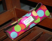 Little Bums Changing Pad Mat in Brown and Pink Dots