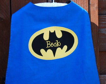 Custom Made Embroidered and Personalized Blue SuperHero Cape - Babies and Toddlers