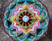 In the Garden of God, a 36 inch, 12-sided Ojo de Dios by custom order