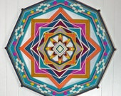Heart to Heart, an 18 inch, 8-sided Ojo de Dios