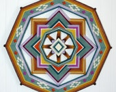 Meadow Bright, an 18 inch, 8-sided Ojo de Dios, by custom order