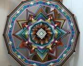 Diamond Sky, a 24 inch, wool yarn, Ojo de Dios, by custom order