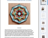 1/2 Price Sale, pdf Instructions for making your own 8 or 12 sided Ojo de Dios