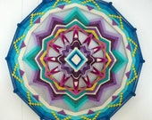 Love of Beauty, a 16 inch, 12-sided Ojo de Dios, by custom order