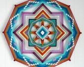 Peaceful Mind, 18 inches, 8-sided all wool ojo de dios, by custom order