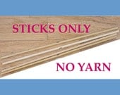 NO YARN; Includes Sticks, PDF Instructions, and Yarn Needle Only.  Kit for Making Your Own 8-sided, 12-inch Mandala
