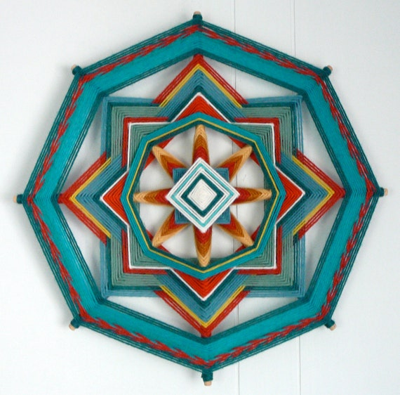 Turquoise Joy, a 12 inch, 8-sided Ojo de Dios