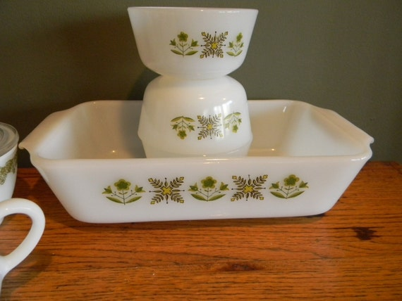 Vintage Anchor Hocking Fire King Meadow Green Collection by Pickerchicks