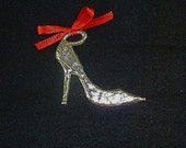 Stiletto shoe pewter ornament