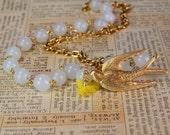 Mockingjay Yellow Necklace