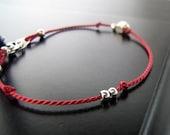 Layering Bracelet- Pairing Bracelet - red/silver