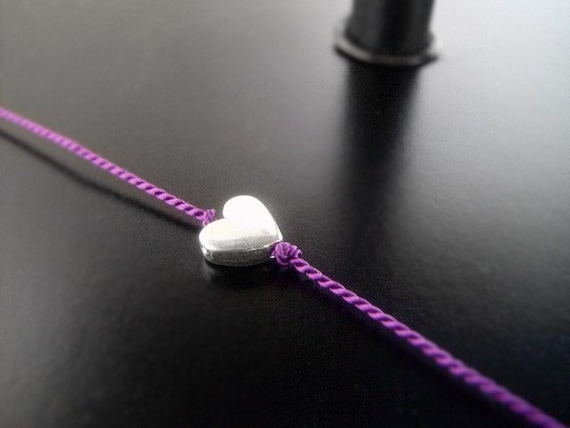 Sterling Silver Tiny Heart Wish Bracelet- Friendship Bracelet, Charm Bracelet, Bridesmaid's Gift, Gifts Under 20 Dollars