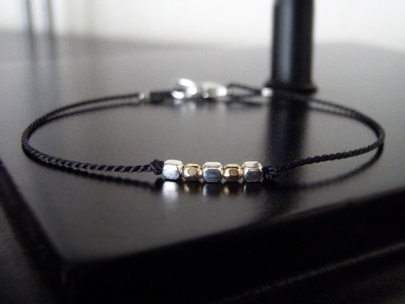 Gifts for Her Under 20 - Wish Bracelet - Five Squared - Black - w/clasp
