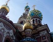 Photograph Russian Orthodox Church Savior on the Blood Close up -  8x10 print