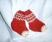Toddler Brown/white Wool Socks