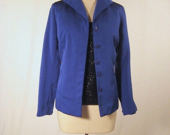 vintage Victor Costa dynamite electric blue  evening jacket. size xs