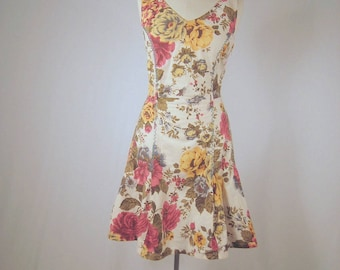 vintage Blooming Rose  cotton dress