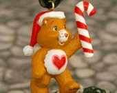 Upcycled Care Bear Christmas Necklace- Tenderheart Bear- On Sale