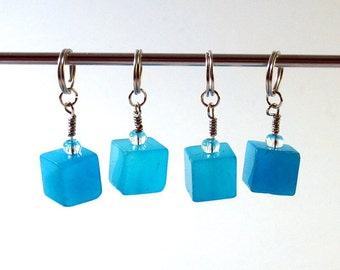 Ice cube stitch markers (set of four)