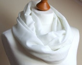 Lightweight Infinity Circle Scarf Summer Fashion OFF WHITE scarf georgette