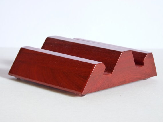 Exotic Bloodwood iPad Stand Accessory also for Tablets