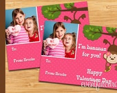 Monkey Printable Valentines Day Cards for Kids -  DIY