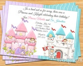 Princess and Knight Birthday Party Invitation