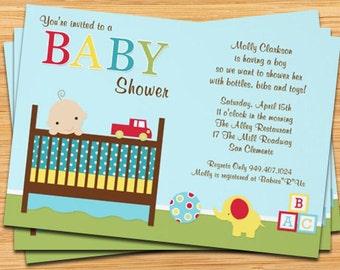 Crib Baby Shower Invitation