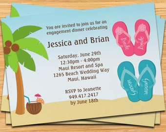 Beach Wedding Shower Invitation