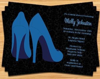 Blue Shoes Bridal Shower Invitation