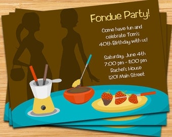 Fondue Party Invitation - Digital File