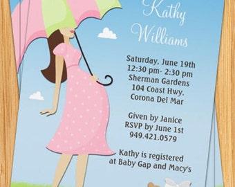 Pink Customizable Baby Shower Invitation