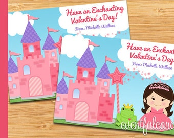 Princess Valentines Day Cards for Kids