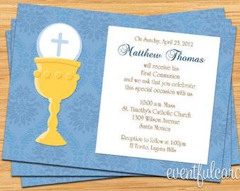 Chalice First Communion Invitation