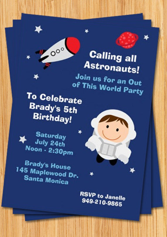 astronaut invitations - photo #8