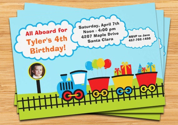 cute train birthday party invitation by eventfulcards  catch my party, Party invitations