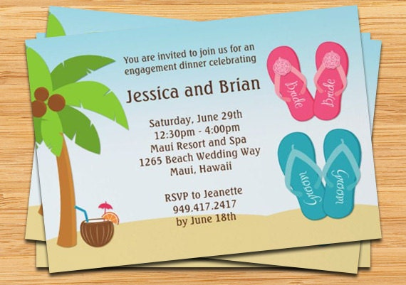 Description Invite The Guests For A Beach Wedding Shower