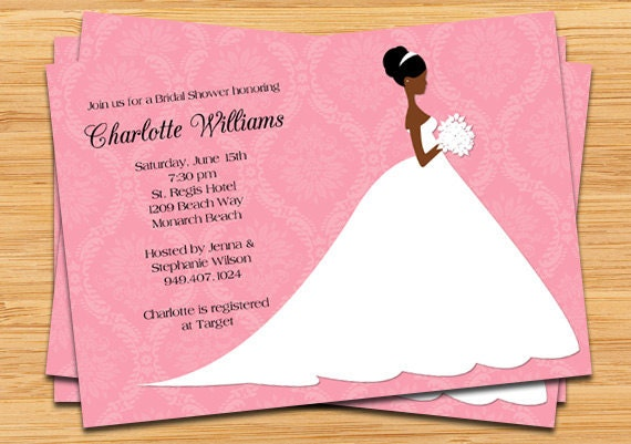Items Similar To African American Bridal Shower Invitation On Etsy