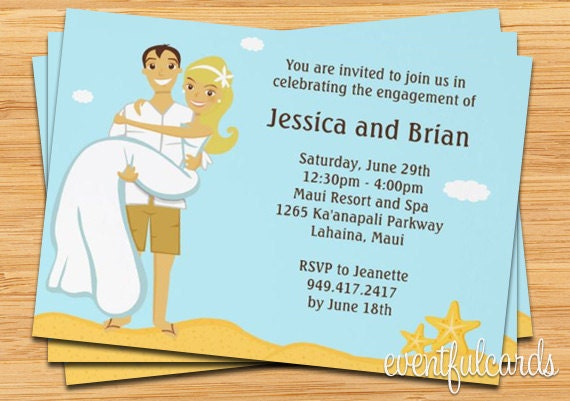 beach wedding shower invitation by eventfulcards  catch my party, Bridal shower invitations