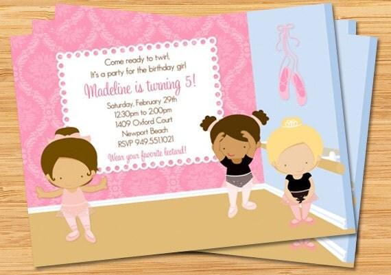 Ballet Birthday Party Invitation
