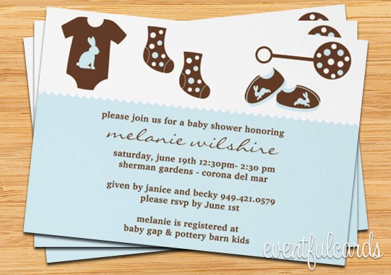 baby shower invitation boy by eventfulcards on etsy