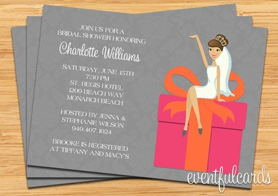 Target Wedding Invitations: Pink And Orange Bridal Shower Invitation By Eventfulcards