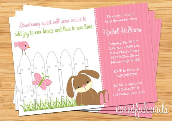 bunny baby shower invitation printable by eventfulcards catch my