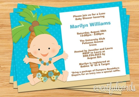luau baby shower invitation by eventfulcards on etsy