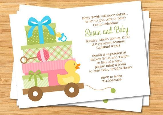 baby shower themes unisex unisex baby shower invitation