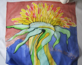 hand painted silk scarf, just one original