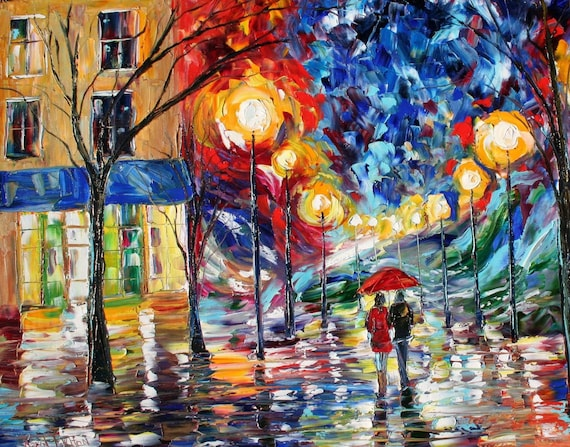 Fine Art Print made from image of oil painting by Karen Tarlton - Late Night Romance