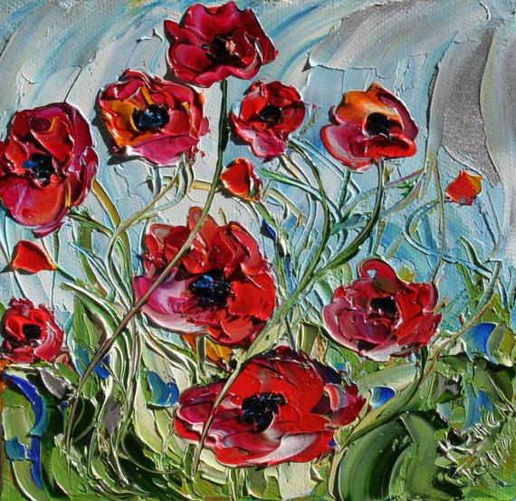 Karen Tarlton Original Oil painting Poppy Dance art