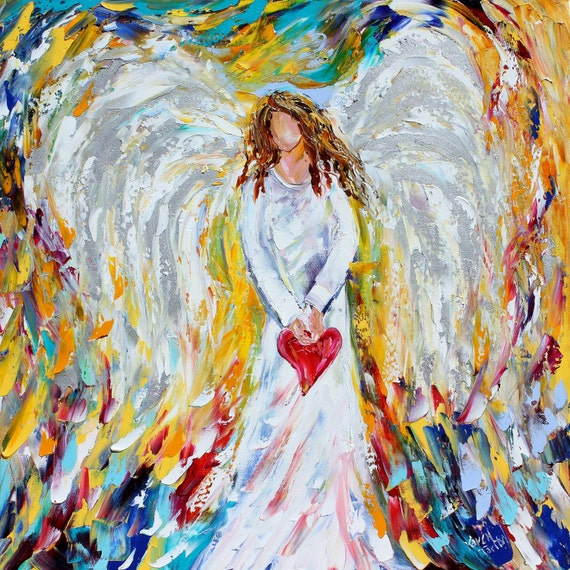 Angel of My Heart PRINT made from image of past oil painting by Karen Tarlton fine art impressionism