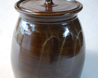 Lidded Jar in Earth tones